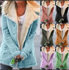 casual coat, fur coat, Fashion, velvet