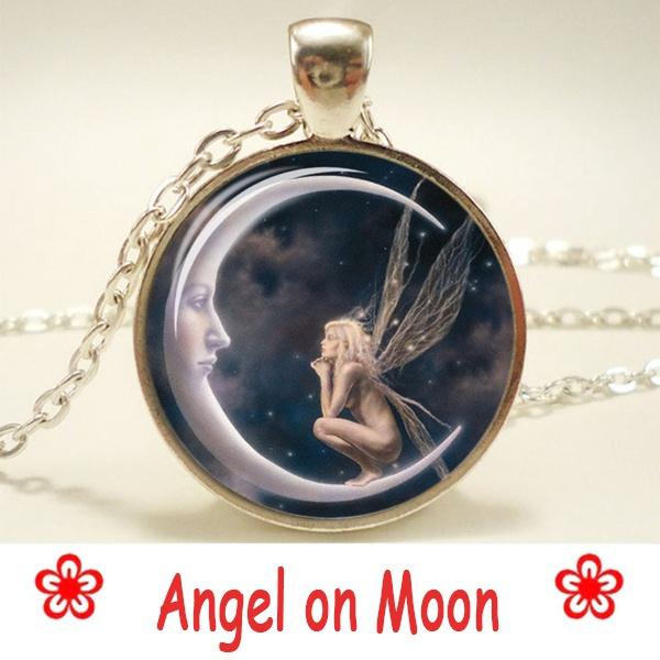 artphotopendant, giftforgirlfriend, Jewelry, Angel