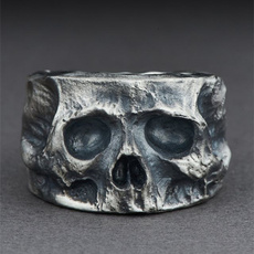 Goth, Stainless Steel, Men, punk rings