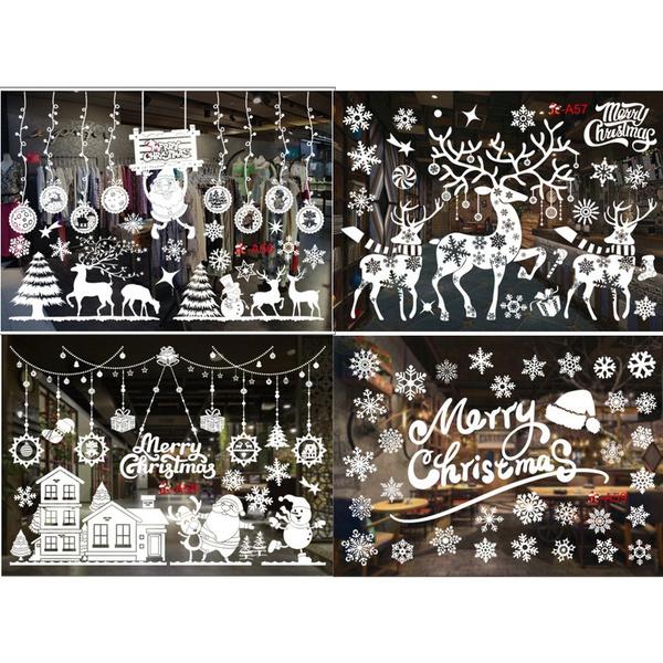 Christmas, Wall, Stickers, whitechristma