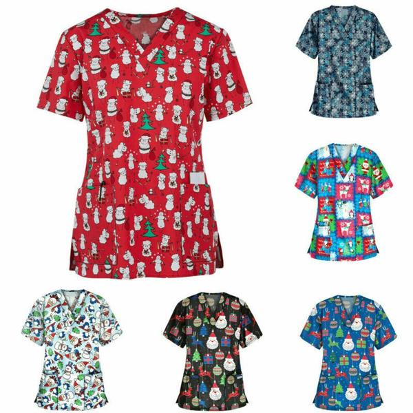 Short Sleeve T-Shirt, Shirt, Women Blouse, vnecktop