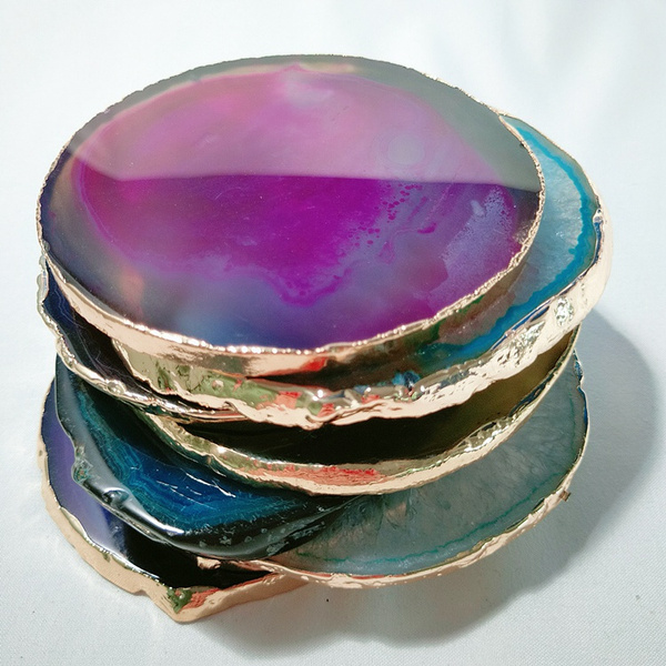 agateslice, Fossils & Minerals, quartz, polished