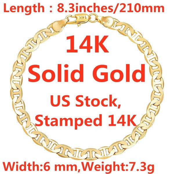 yellow gold, Chain bracelet, chianbracelet, gold