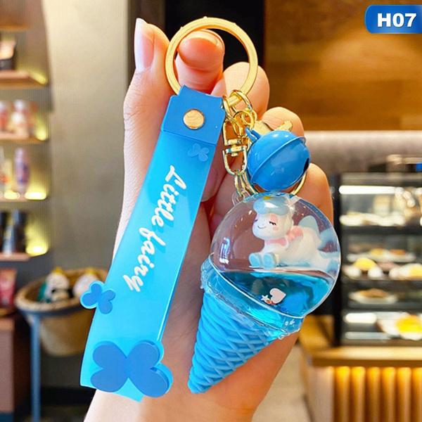cute, liquidkeychain, Key Chain, Jewelry