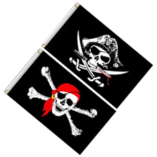 Decor, skull, halloweenflag, skullflag