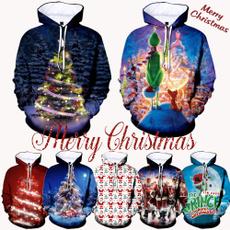 Casual Hoodie, Christmas, Long Sleeve, Fashion Hoodies
