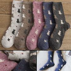 Winter, casualsock, Socks, Cats