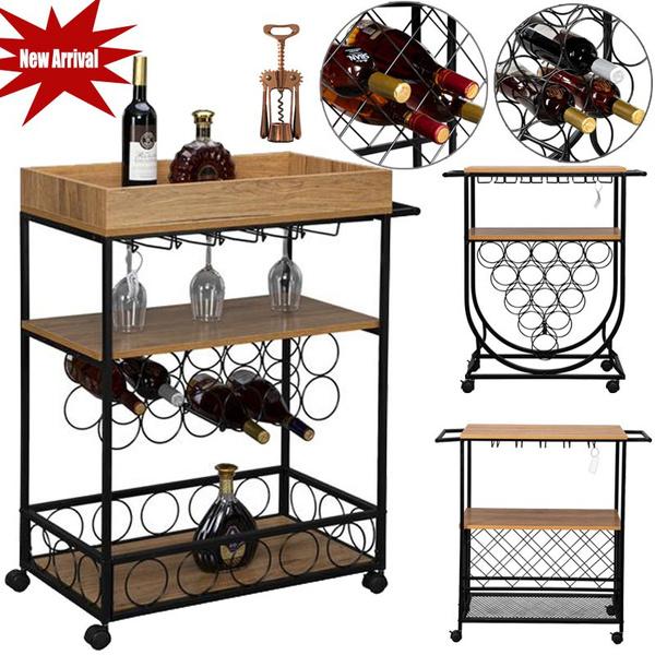 woodiron, barcart, servingtrolley, Storage