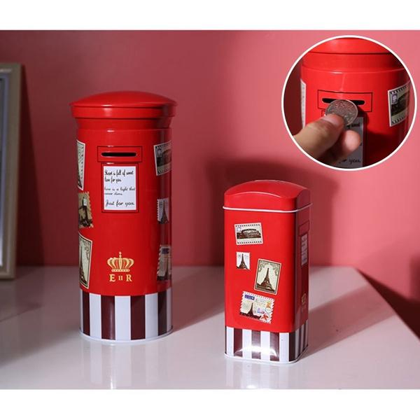 Box, piggybanksforkid, retrobank, changesstoragecontainer