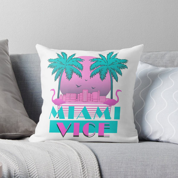 Cases & Covers, squarethrowpillowcase, animalprintpillowcase, Miami