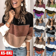 Fashion, Winter, Patchwork, Sweaters