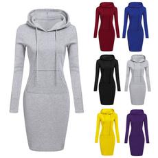 women casual dress, Fashion, Long Sleeve, Mini