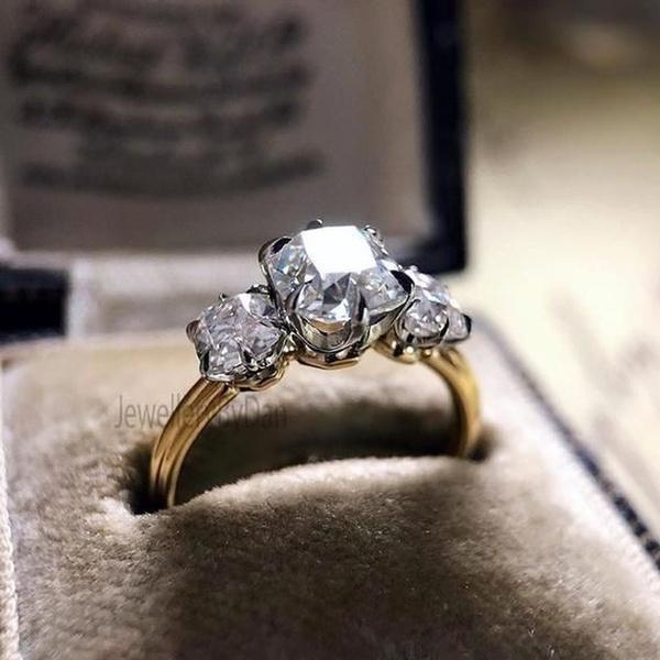 18k gold, wedding ring, ladiesring, Diamond Ring