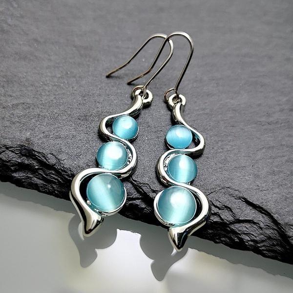 Sterling, Blues, fashion women, Hoop Earring
