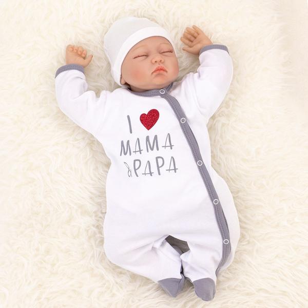 cute, Cotton, babylongsleeveoverall, babyromper