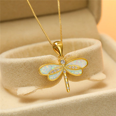 dragon fly, Jewelry, gold, cute