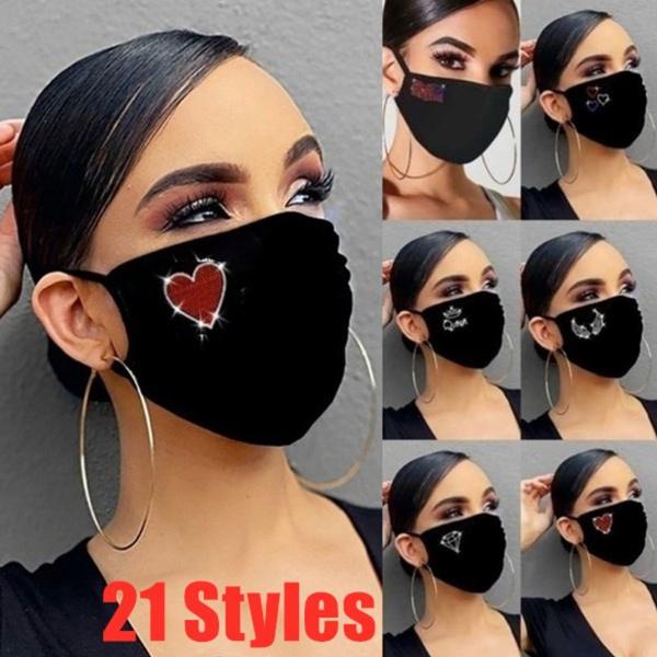 Heart, resuablemask, mouthmask, butterflymask