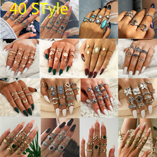 party, ringsset, Jewelry, gold