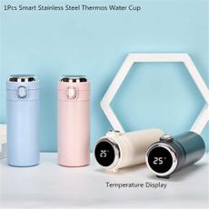 Steel, thermosbottle, temperaturedisplay, Outdoor