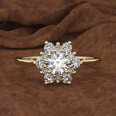 DIAMOND, Jewelry, gold, Snowflakes