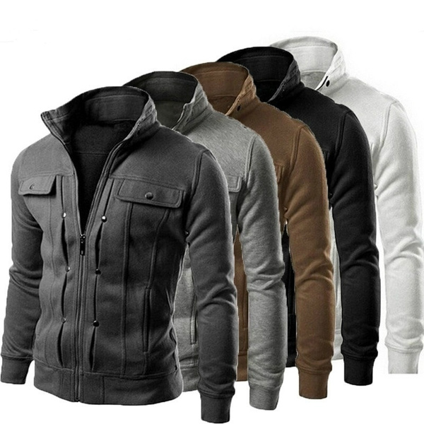 Fashion, Sleeve, Zip, mens tops