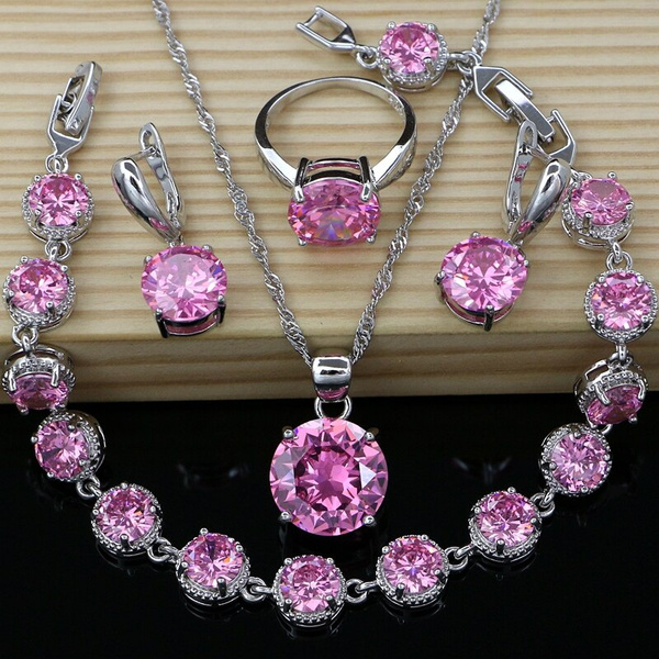 925silverjewelryset, Cubic Zirconia, Fashion, Nacklace