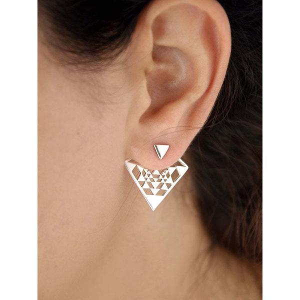 DIAMOND, Triangles, Jewelry, vintage earrings