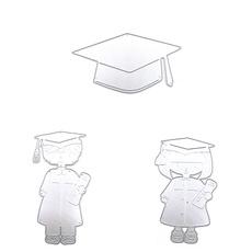 Scrapbooking, cuttingdie, stenciltemplate, graduate
