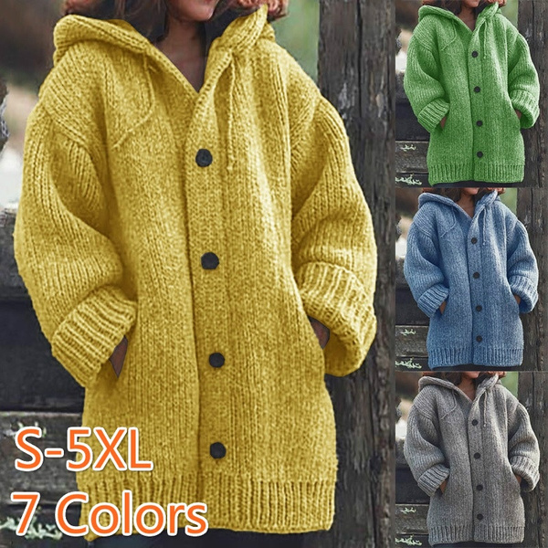 Plus Size, Winter, sweater coat, Long sleeved