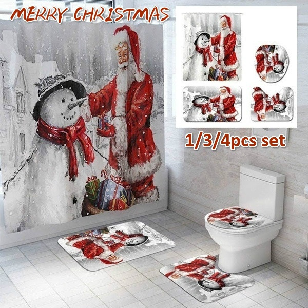 Bath, bathroomrugset, Flowers, Christmas