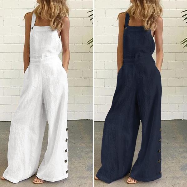 strappyjumpsuit, cottonlinen, pants, Overalls