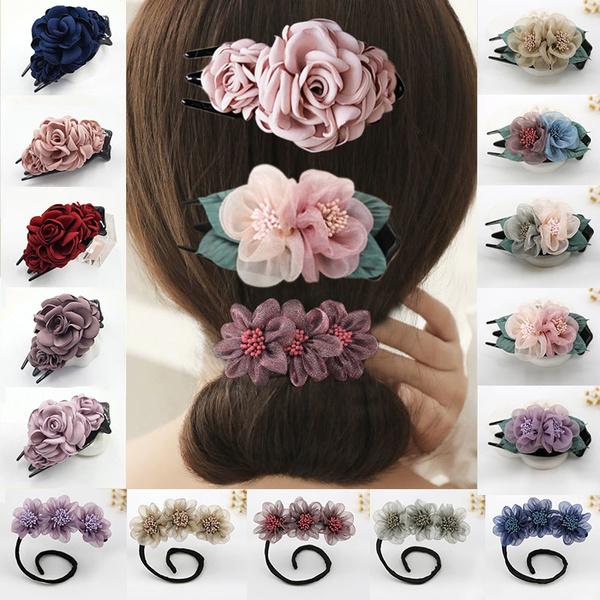 hairstyle, Women's Fashion & Accessories, Claws, flowerhairpinclip