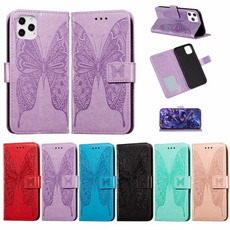 butterfly, case, Flowers, Leather Cases