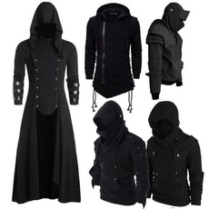 Goth, hooded, Cosplay, knightsjacket