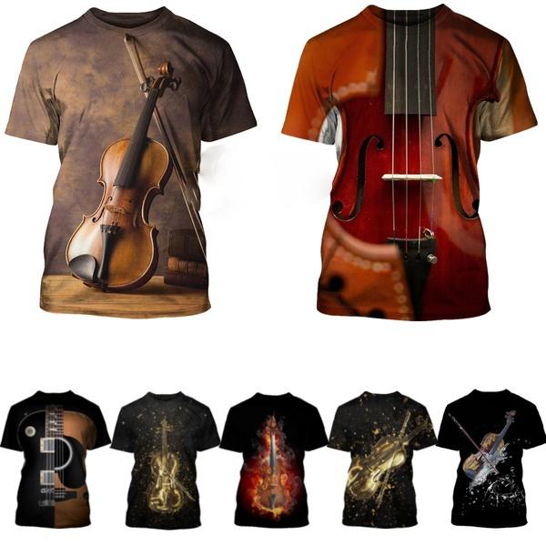 Funny, Fashion, Musical Instruments, Shirt