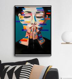 canvasprint, living room, Colorful, art