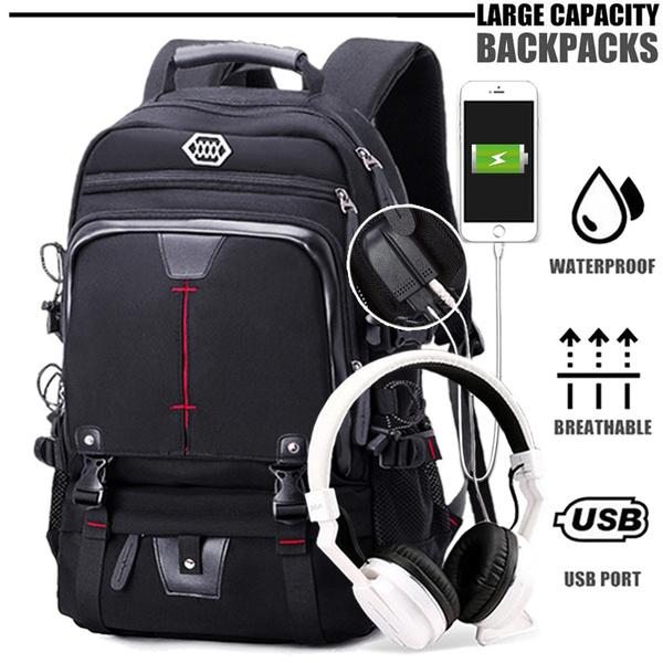 travel backpack, Laptop Backpack, black backpack, Capacity