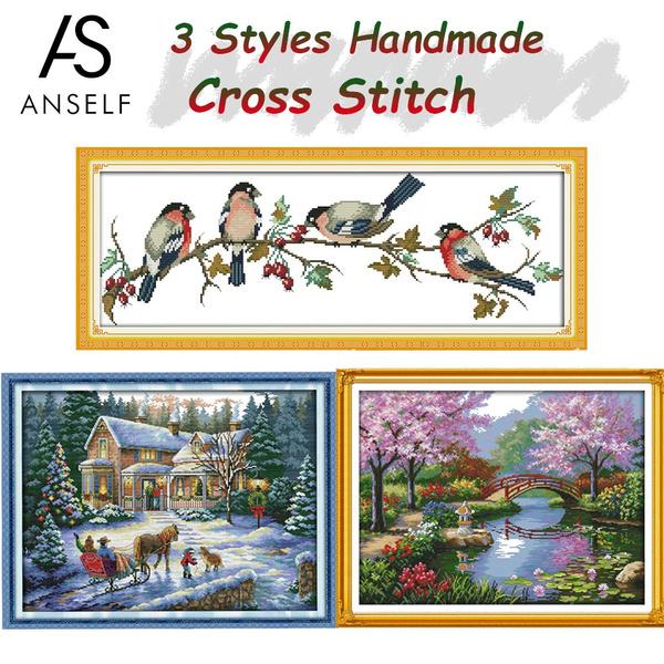 crossstitch, handicraft, Home Decor, Home & Living
