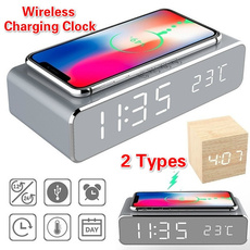 wirelesschargerclock, leddisplayclock, led, wirelessphonecharger