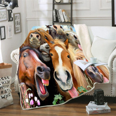 horse, bedblanket, sofablanket, Picnic