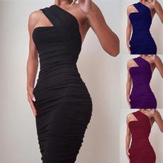 Sleeveless dress, Fashion, one shoulder dress, one-shoulder