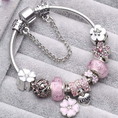 Sterling, pink, Flowers, Jewelry