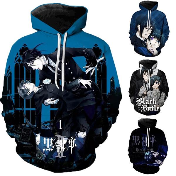 3D hoodies, blackbutlerhoodie, Casual Hoodie, blackbutler