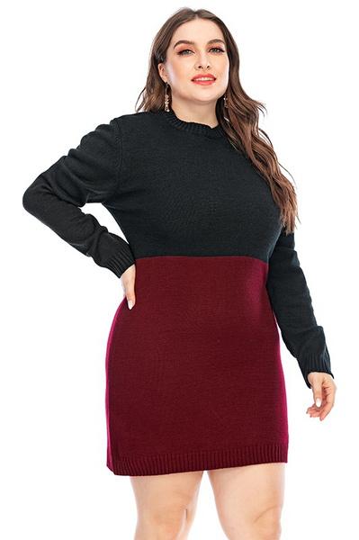 Plus Size, newinsweater, Dress, wintercolletion