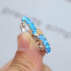 Blues, bluefireopal, opalearring, Jewelry