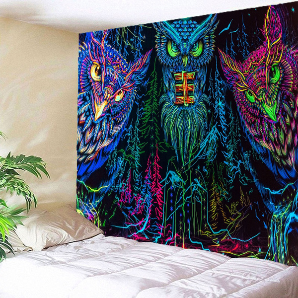 Owl, Wall Art, 3dtapestry, decorativecloth