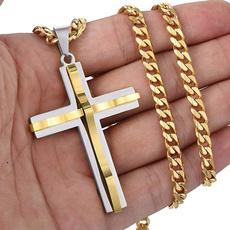 beliefnecklace, titanium steel necklace, Jewelry, Cross Pendant