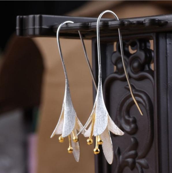 Sterling, wedding earrings, sterling silver, Earring