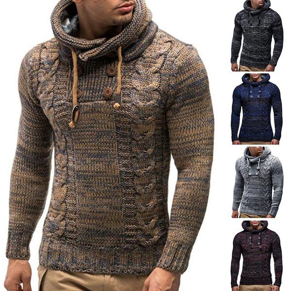 Plus Size, sweater coat, Long Sleeve, Men