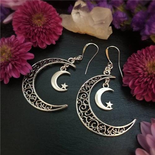 moonlunaaura, moomearring, Earring, withcywiccanwitch